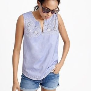 NEW ✨ J.crew Embroidered Circles Tank Blouse 0